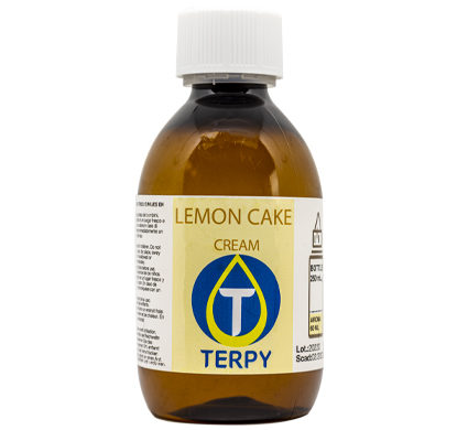 Botella de 250 ml e-liquidos cremosos cigarrillo electronico Lemon Cake