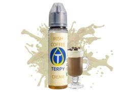 Botella con líquido para vapear con el cremoso sabor del Irish coffee