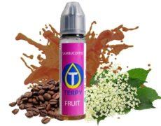 Botella de líquido afrutado para cigarrillo electrónico con sabor a café y anís