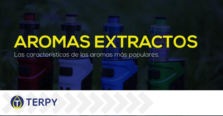 Aromas extractos para e liquidos