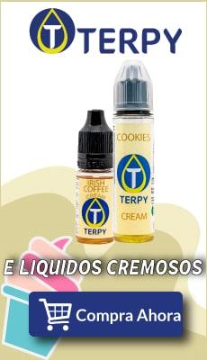 banner terpy e liquidos cremosos para cigarro electronico