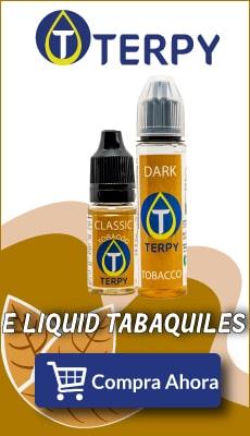 banner terpy e liquid tabaquiles para cigarro electronico