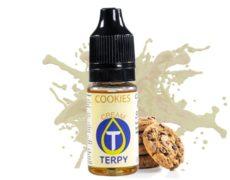 Botella que contiene sabore de las galletas para vapear
