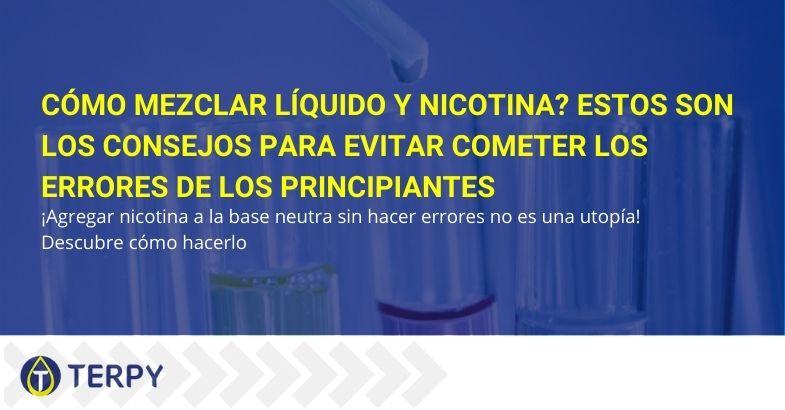 Cómo mezclar líquido y nicotina? Estos son los consejos