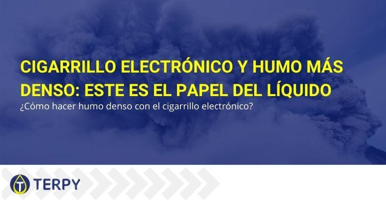 Cigarrillo electrónico y humo más denso: este es el papel del líquido