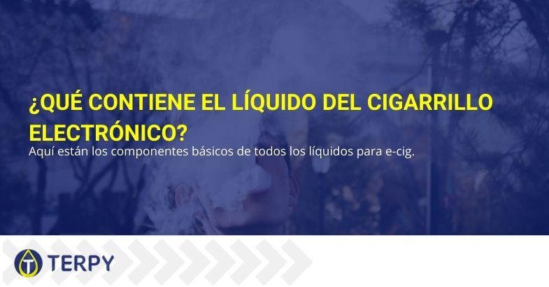 ¿Qué contiene el líquido del cigarrillo electrónico?