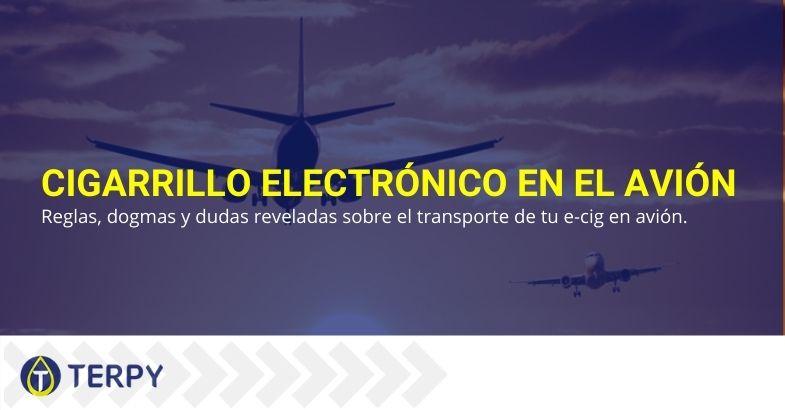 Existen reglas para llevar el cigarrillo electrónico en el avión.
