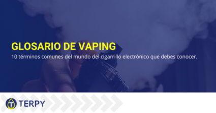 10 términos comunes cigarrillos electrónicos.