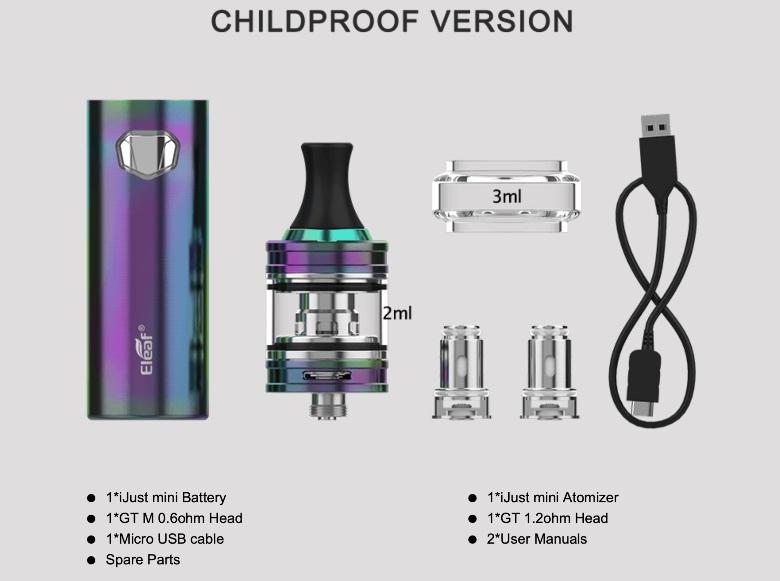 ijust mini componentes como mejor cigarrillo electrónico 2020