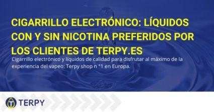 líquidos con y sin nicotina preferidos por los clientes de Terpy.es