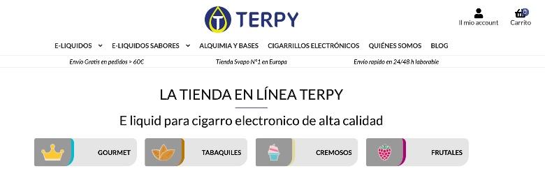 líquidos para cigarrillos electrónicos en terpy.es