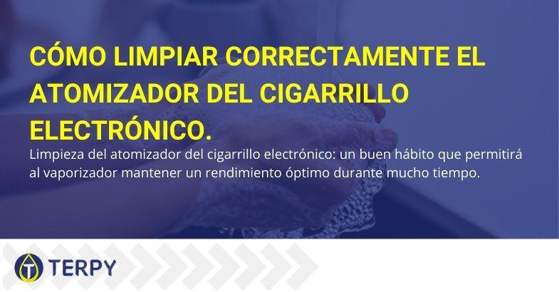Atomizador de cigarrillo electrónico: cómo hacer una limpieza adecuada