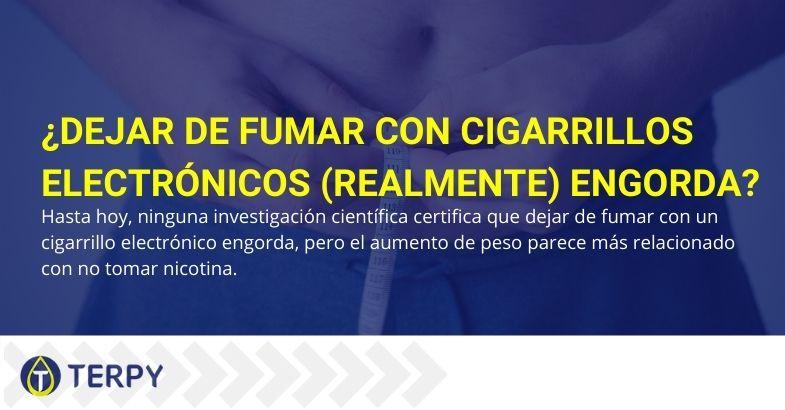 ¿Realmente engorda dejar de fumar el cigarrillo electrónico?
