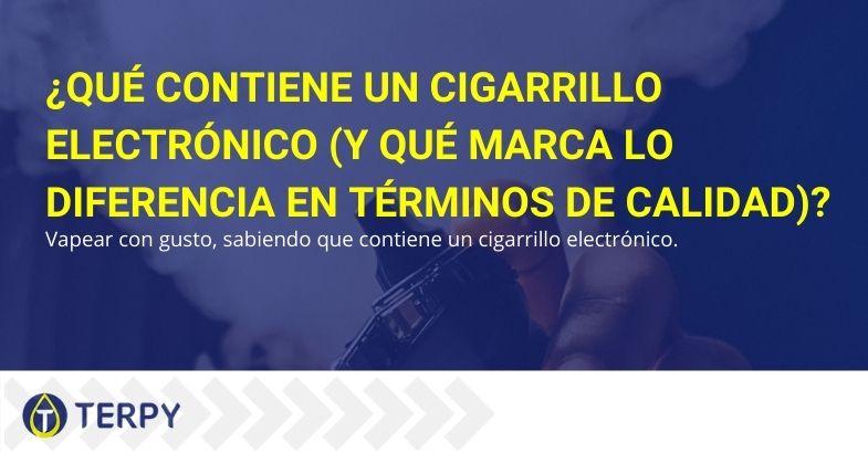 ¿Qué contiene el cigarrillo electrónico y qué determina la calidad?