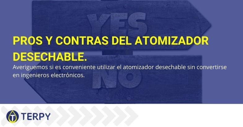 Pros y contras del atomizador desechable.