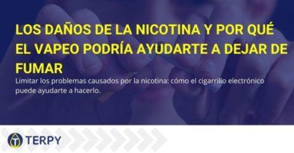 Vapear puede ayudarlo a dejar de fumar para limitar el daño de la nicotina