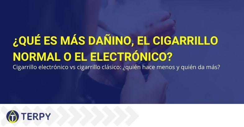 Cigarrillo normal o electrónico: ¿qué es más perjudicial?
