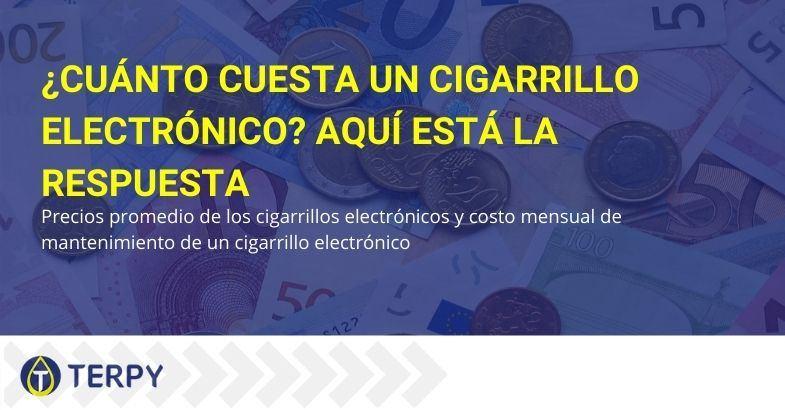 Los costes medios del cigarrillo electrónico