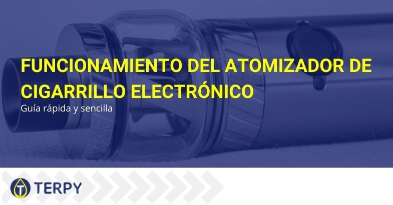 El funcionamiento del atomizador de cigarrillos electrónicos.