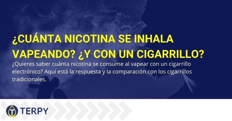 La nicotina que se toma mientras se vaporiza no es la misma que se toma mientras se vaporiza siguiendo las líneas rectas tradicionales.