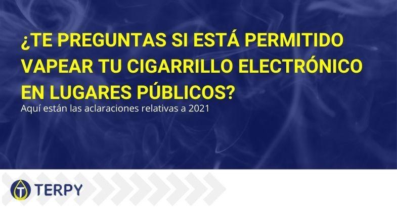 ¿Está permitido vapear en lugares públicos?