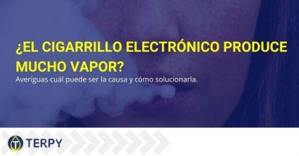 Las causas que hacen que el cigarrillo electrónico produzca mucho vapor