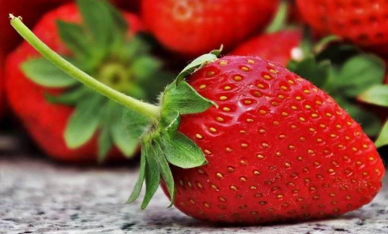 Fresas para extraer aromas para vapear líquidos naturales.