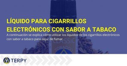 ¿El líquido del cigarrillo electrónico con sabor a tabaco le ayuda a dejar de fumar?